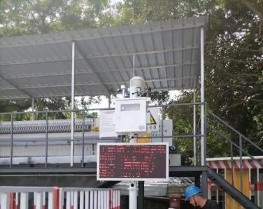 广州地铁五号线双认证扬尘在线监测系统安装案例
