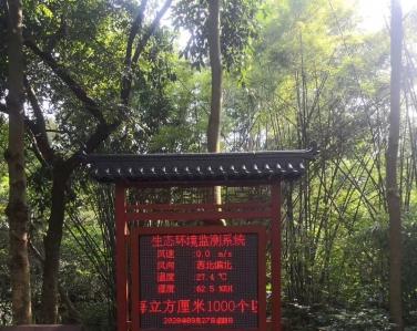 广东省东莞大屏嶂森林公园-负氧离子在线监测系统